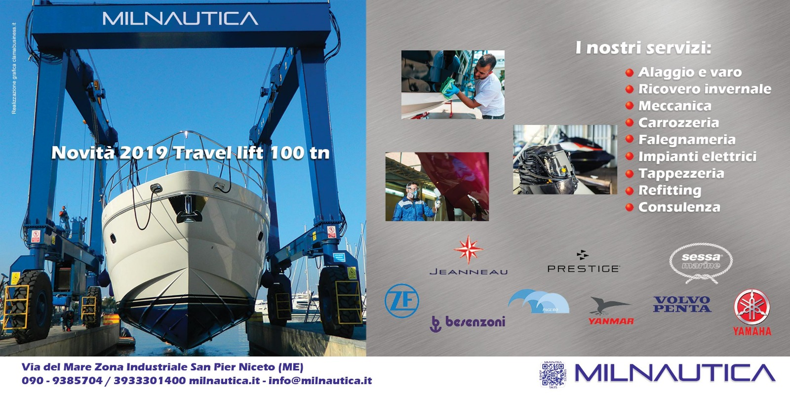 Travel lift Milnautica